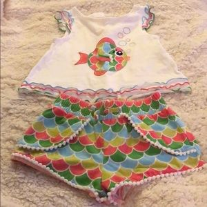 Fish baby girls outfit